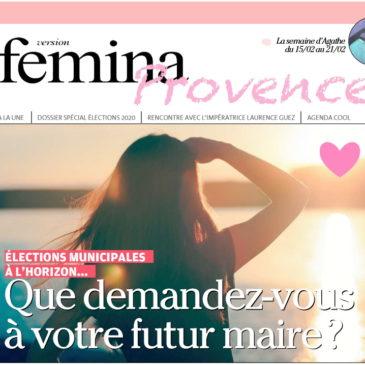 On parle de nous dans le journal Femina / La Provence